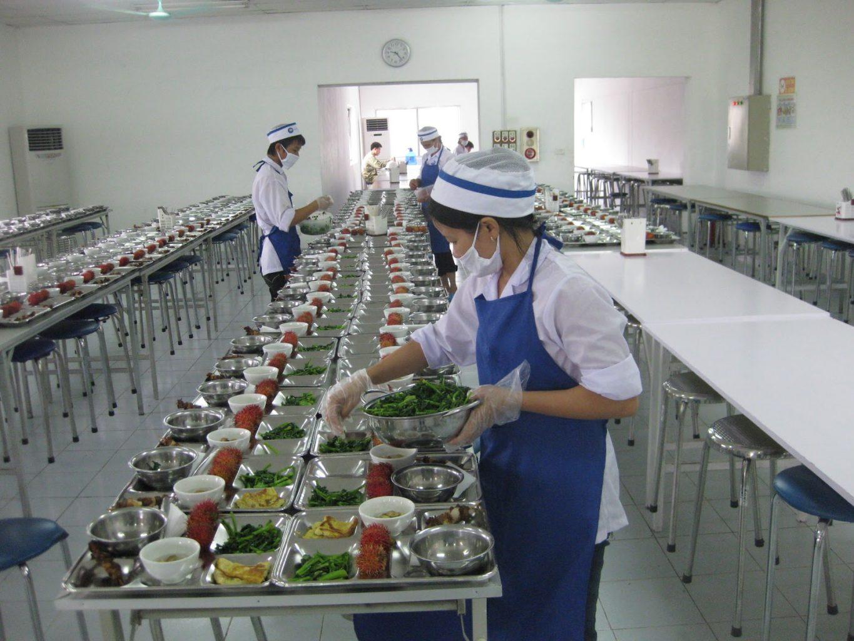 Suất cơm công nghiệp Đồng nai an toàn vệ sinh thực phẩm
