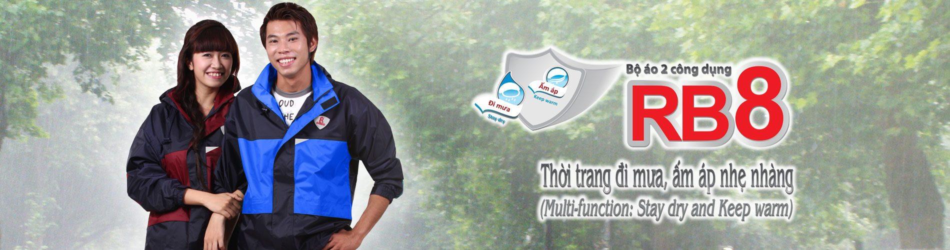 Áo mưa bộ 2 công dụng RB8-rando