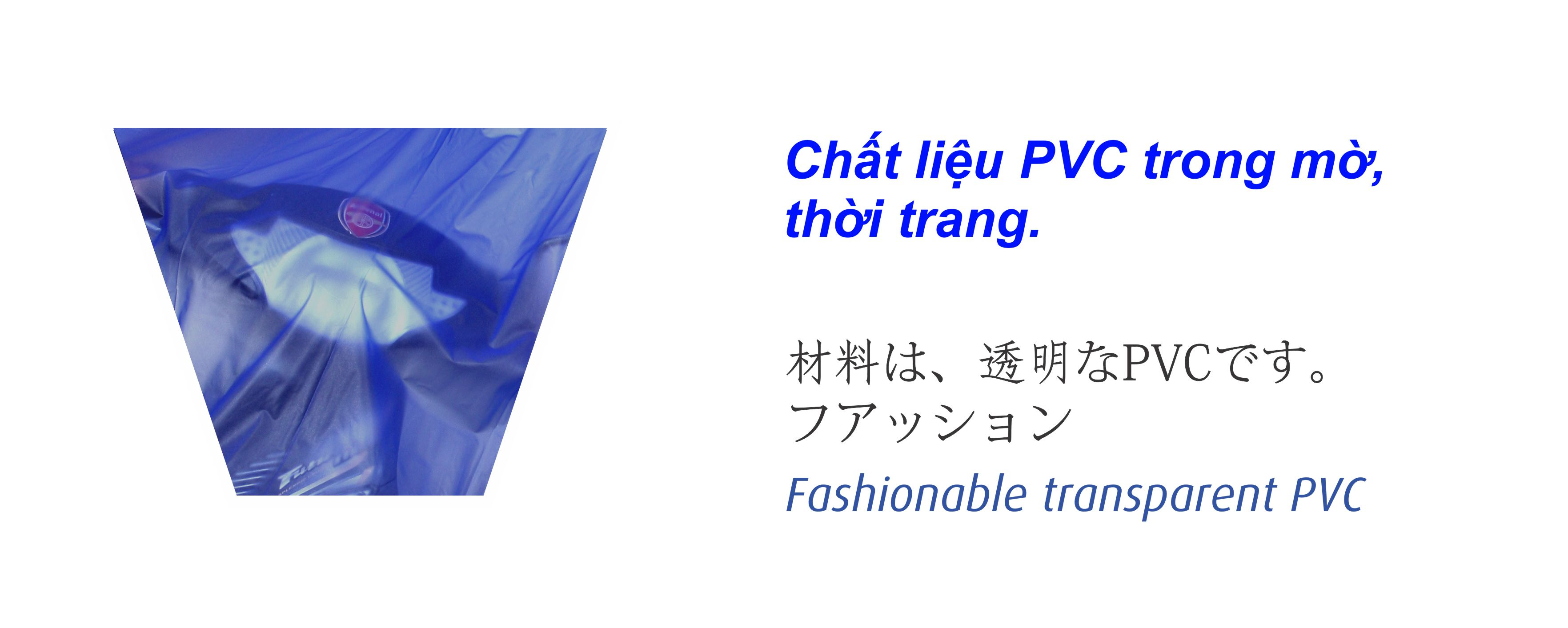 Chất liệu PVC bộ áo mưa trong màu - RANDO