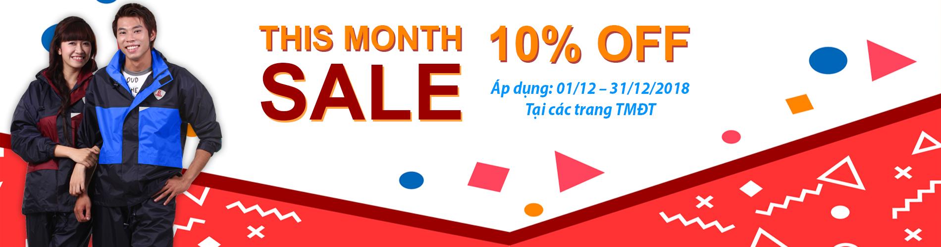 Tháng 12 – Khuyến mãi mua hàng online giảm giá 10%