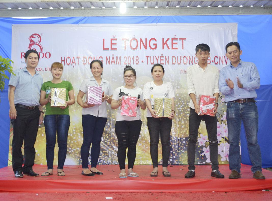 Trưởng Phòng Kinh Doanh trao tặng phần quà Giải 4