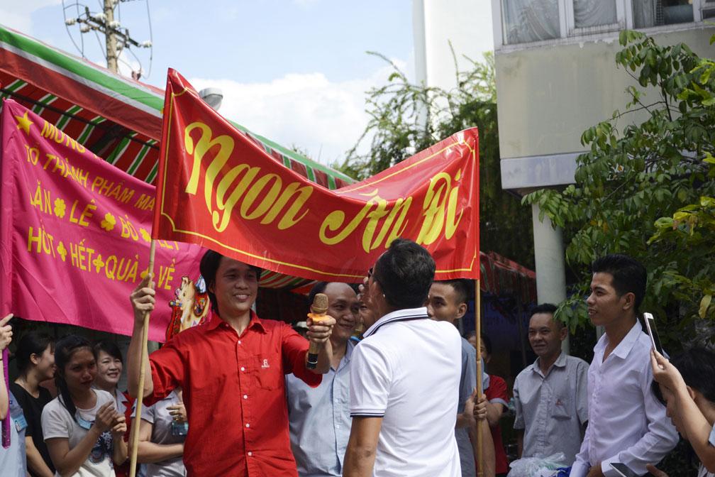 Những slogan khá tự tin thể hiện sự quyết tâm, đoàn kết của CB-CNV 1