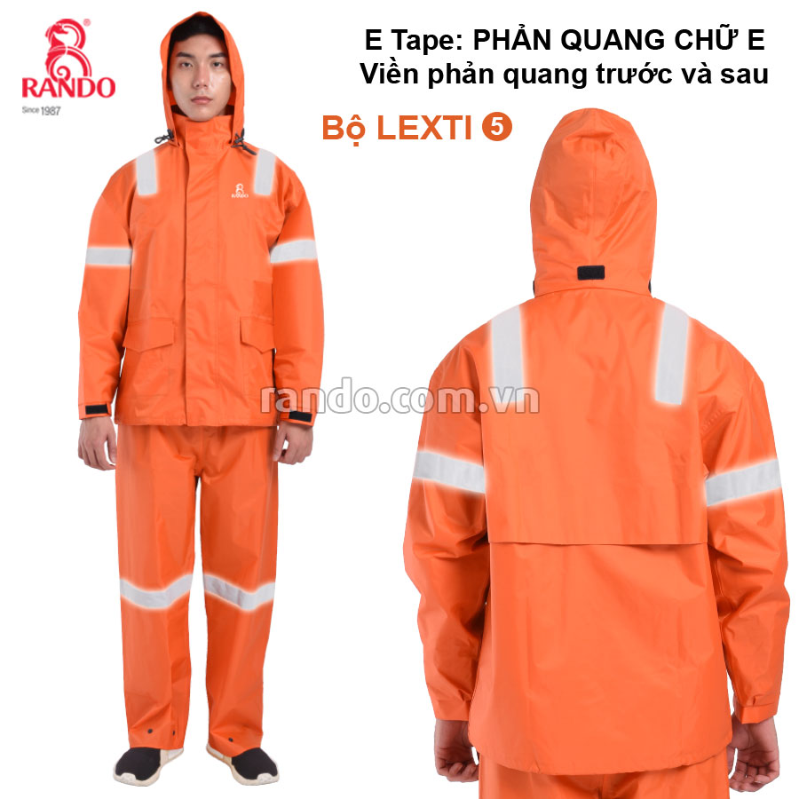 Bộ áo mưa Lexti 5 E-Tape