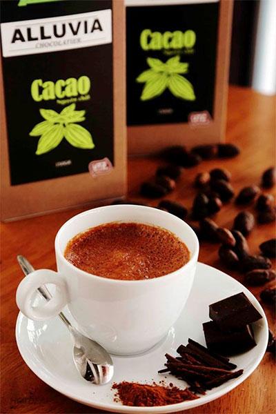 socola nóng từ cacao nguyên chất