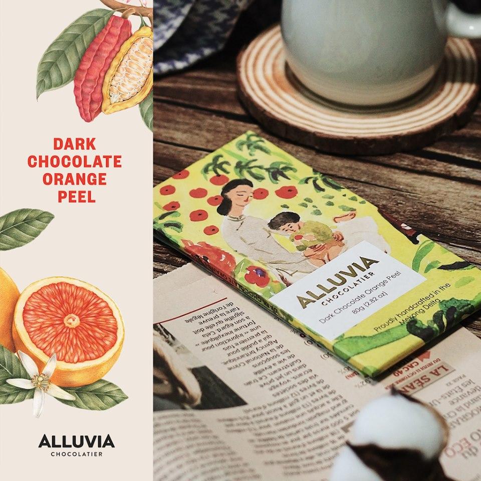 Alluvia là hãng sản xuất socola vỏ cam ngay tại Việt Nam