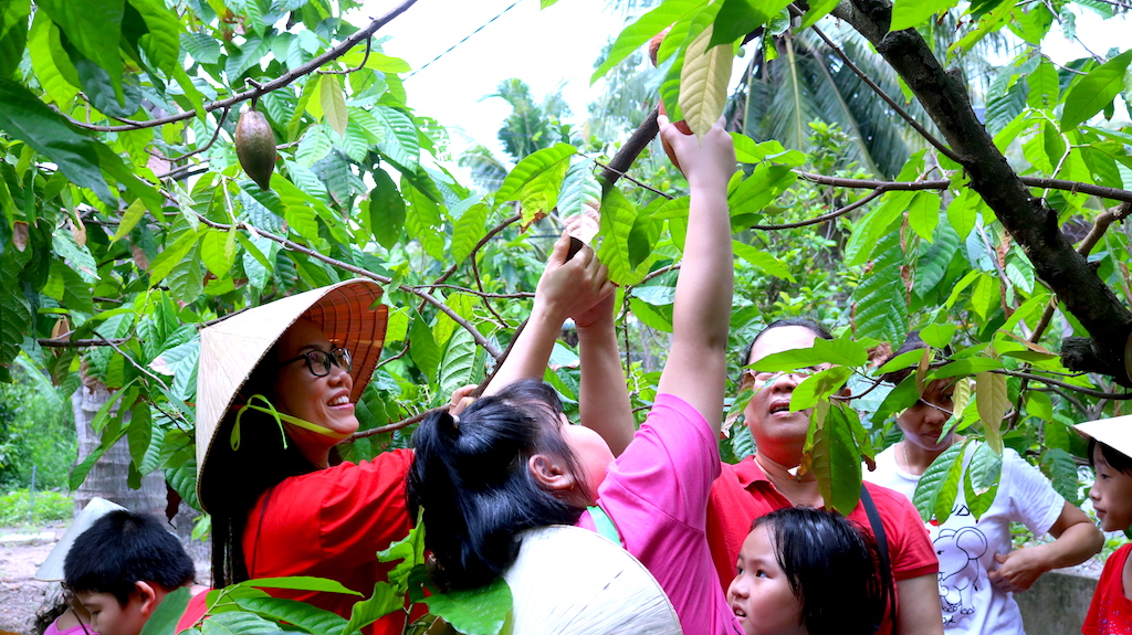 cocoa farm tour for kids Saigon