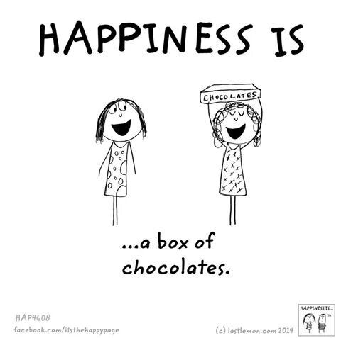 happiness is a box of chocolates