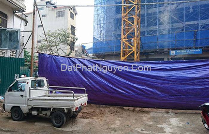 Bạt che công trình được sản xuất từ chất liệu cao cấp