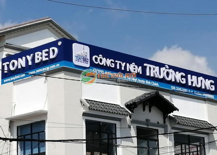 Biển hiệu quảng cáo cho hệ thống nệm Tony Bed