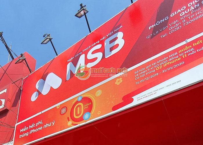 Biển hiệu quảng cáo cho hệ thống MSB Bank