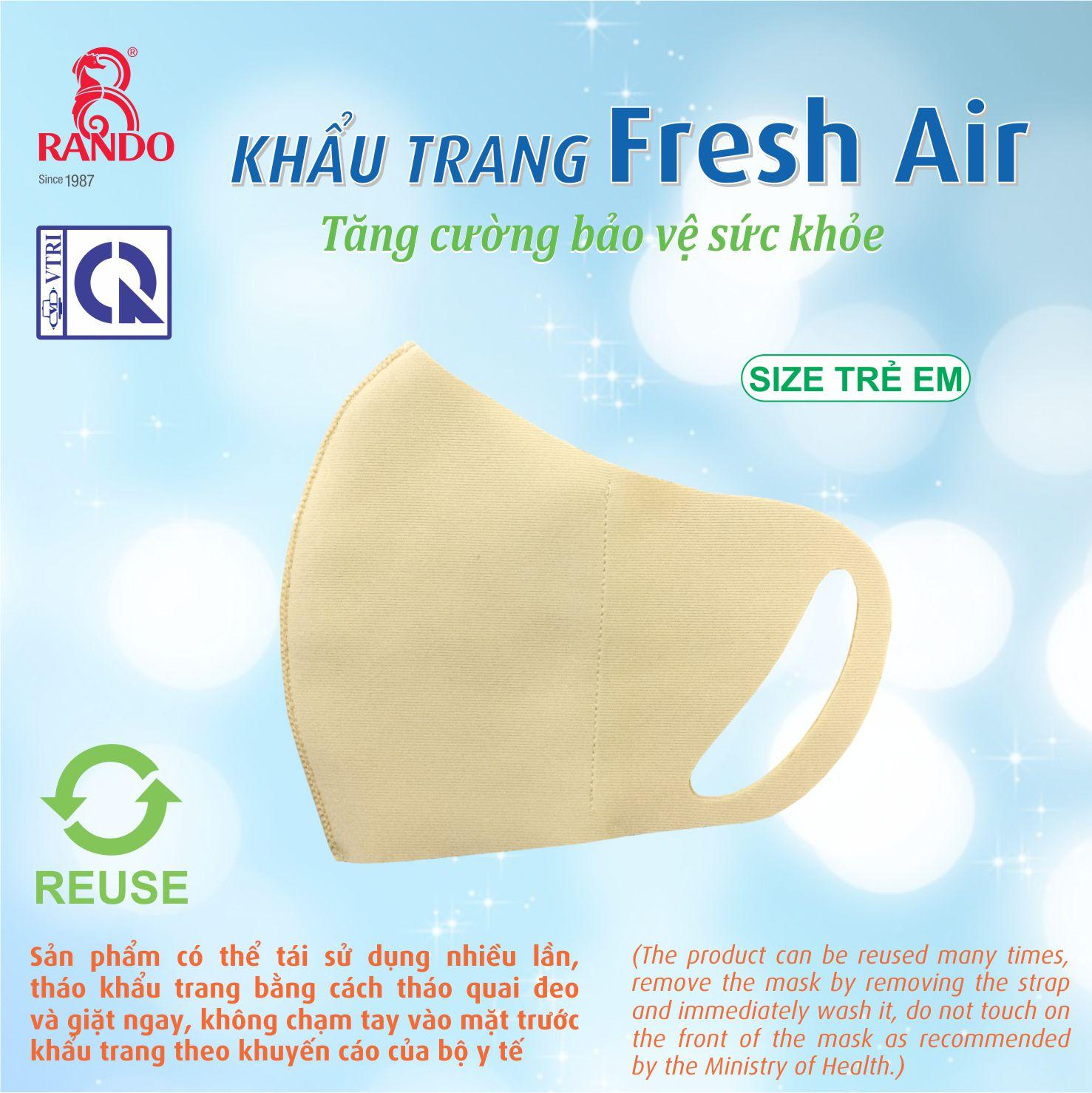 khẩu trang Fresh Air Trẻ Em