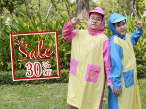 Sale 30% off áo mưa cho tuổi teen