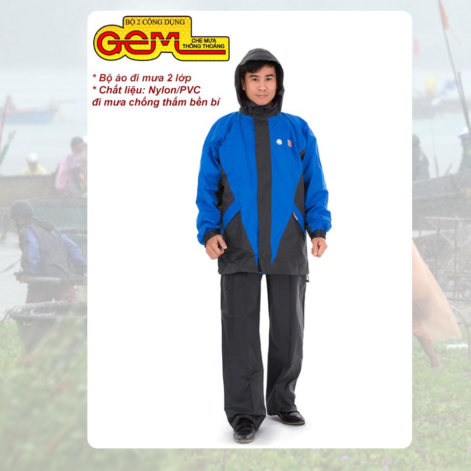 Bộ áo mưa cao cấp GEM 2 lớp RANDO giảm giá