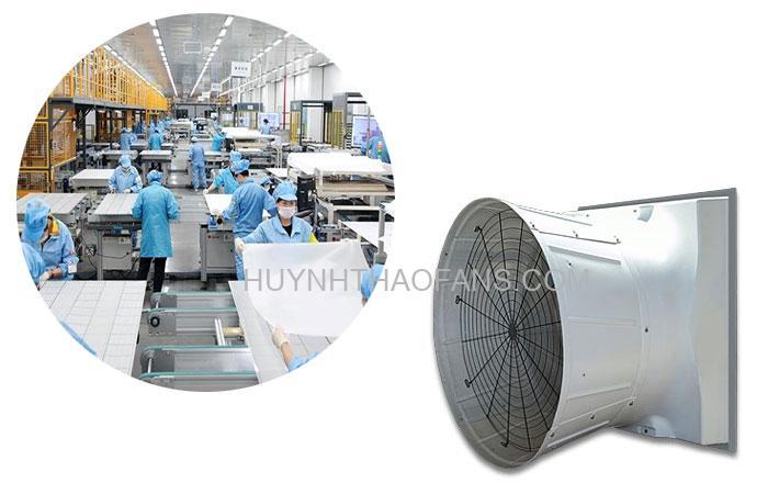 Quạt công nghiệp là loại quạt được thiết kế với chuẩn kỹ thuật và kiểu dáng riêng biệt.