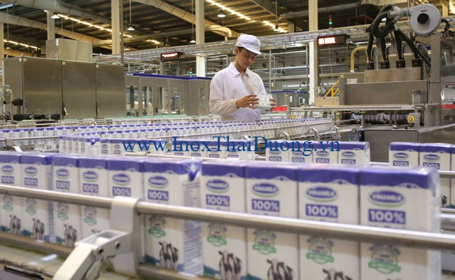 Ống inox 316 được sử dụng trong nhà máy sữa Vinamilk
