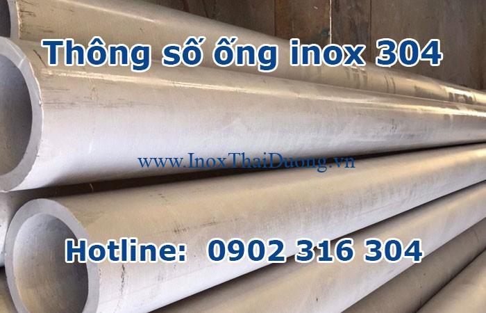 thông số ống inox 304