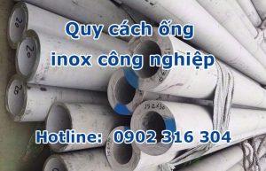 quy cách ống inox công nghiệp
