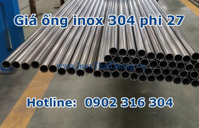 giá ống inox 304 phi 27