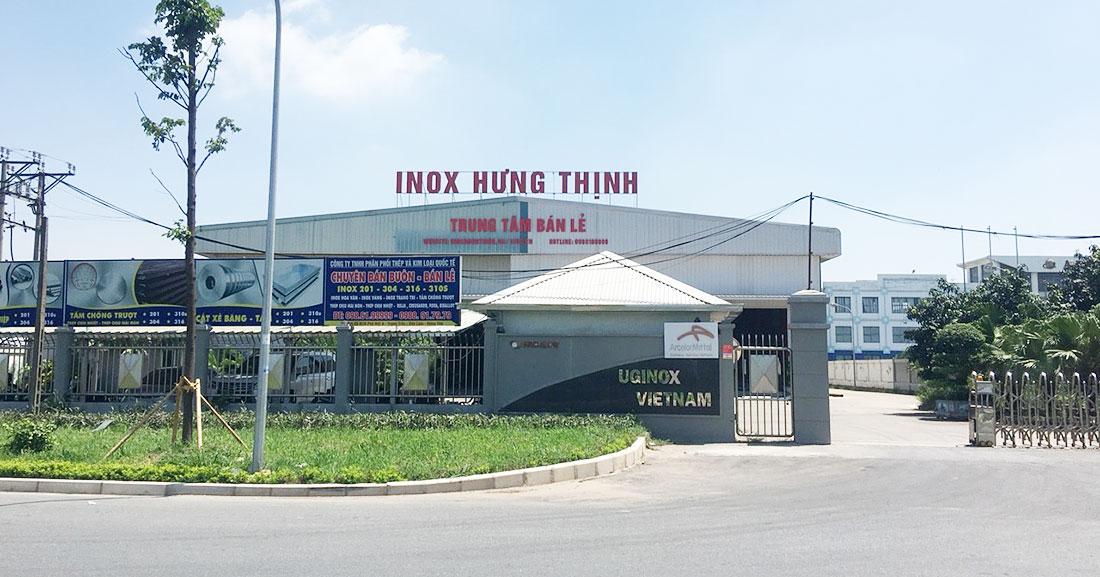 Đầu 2018 tập đoàn ArcelorMittal (Pháp) chuyển giao toàn bộ nhà máy Uginox Việt Nam cho Inox Hưng Thịnh