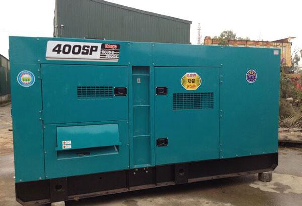 Máy phát điện 400kVA sử dụng nhiên liệu dầu diesel, tiết kiệm nhiên liệu