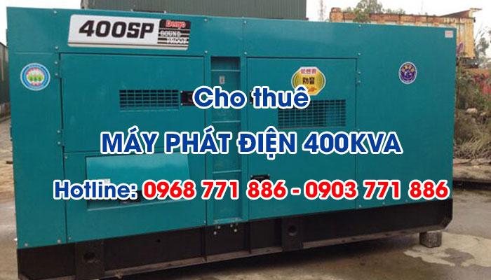 Lý do nên sử dụng dịch vụ cho thuê máy phát điện 400KVA