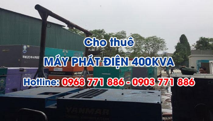 Khi nào cần sử dụng các dịch vụ cho thuê máy phát điện 400KVA?